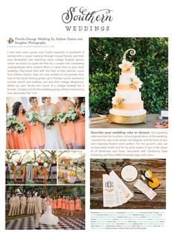 Oranges Wedding Cake