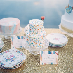 Hand Painted Watercolor Cake