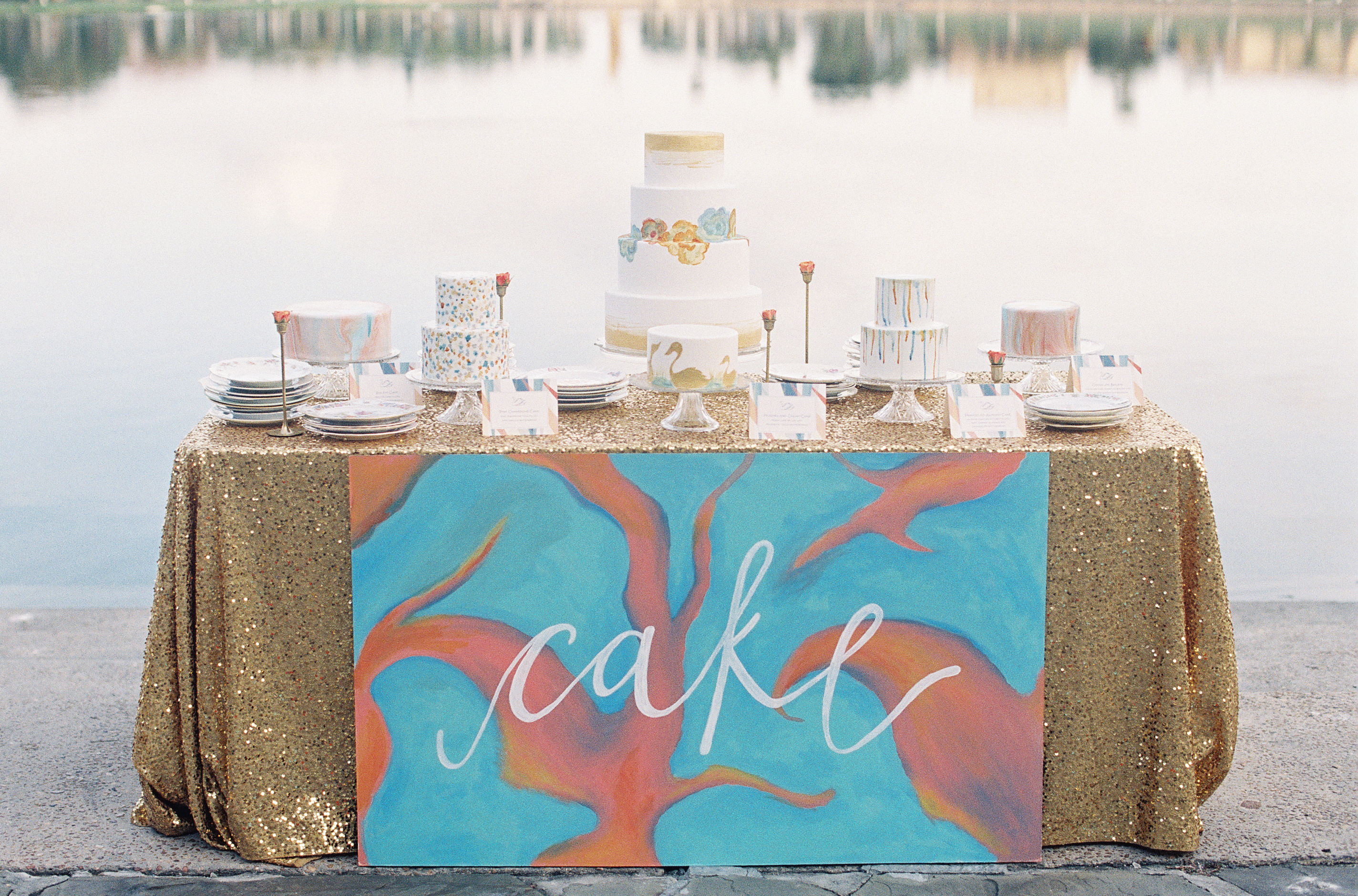 Hand Painted Cake Table Lakeland