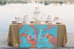 Hand Painted Cake Table Lakeland