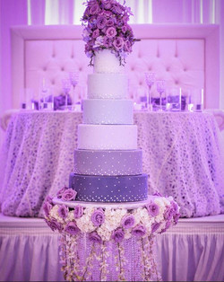 Ombre and Crystals Hanging Cake