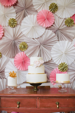 Pink and Gold Cake Table