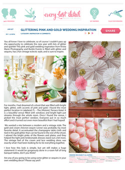 Pink and Gold Wedding Sweets
