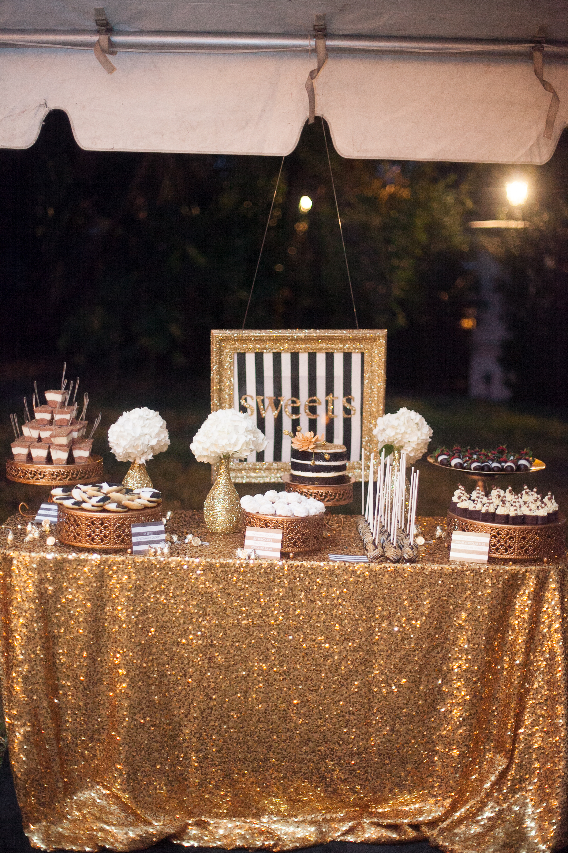 Black and Gold Dessert Table Tampa