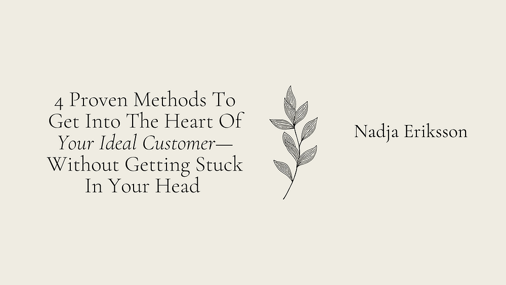 Your ideal customer avatar. It doesn't have to be so hard.