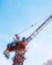Crane lifting on construction site
