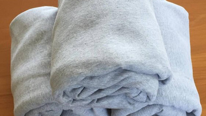 Sensory Calming Sheet-  Single Organic Cotton - Grey Marle - Winter Weight