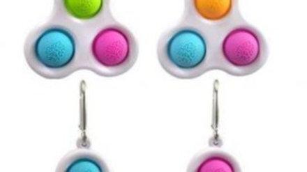 Three Dimple Pop It Fidgets
