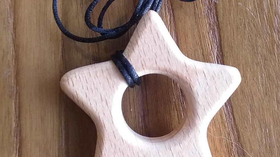 Wooden Star Chewable Necklace
