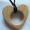 Thumbnail: Wooden Heart Chewable Necklace
