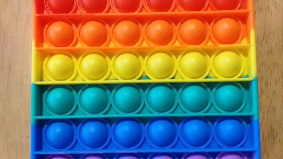 Pop It Bubble Disc Fidget - Rainbow Square