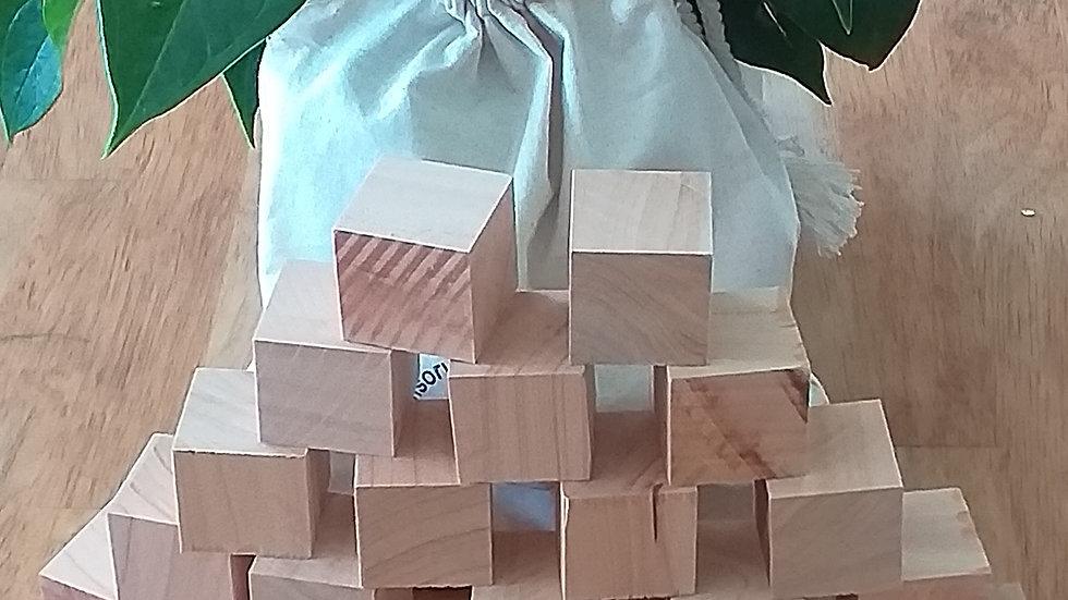 Loose Parts Play - Macrocarpa Blocks x 20