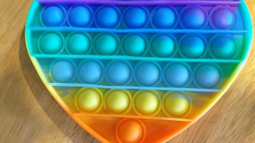 Pop It Bubble Disc Heart Rainbow
