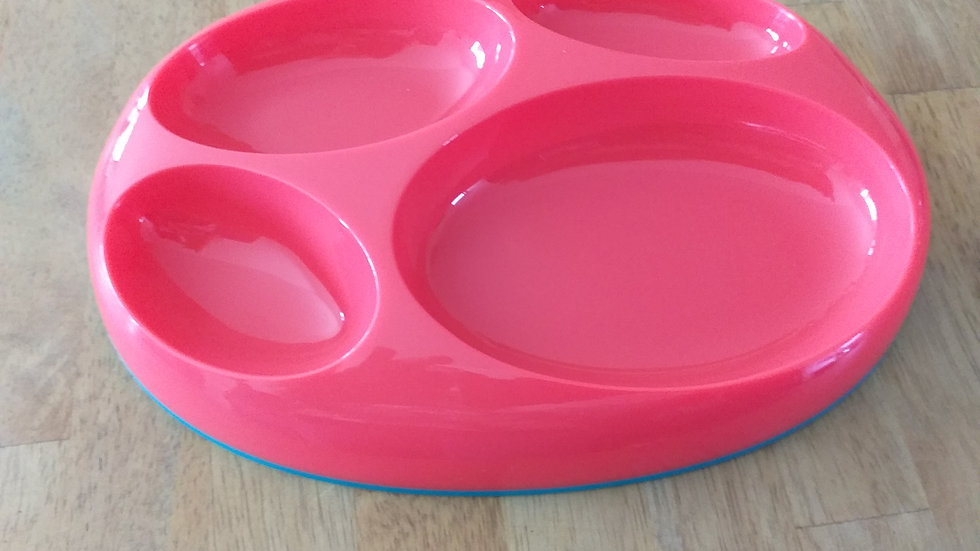 Colourful Divided Plate - 4 Sections