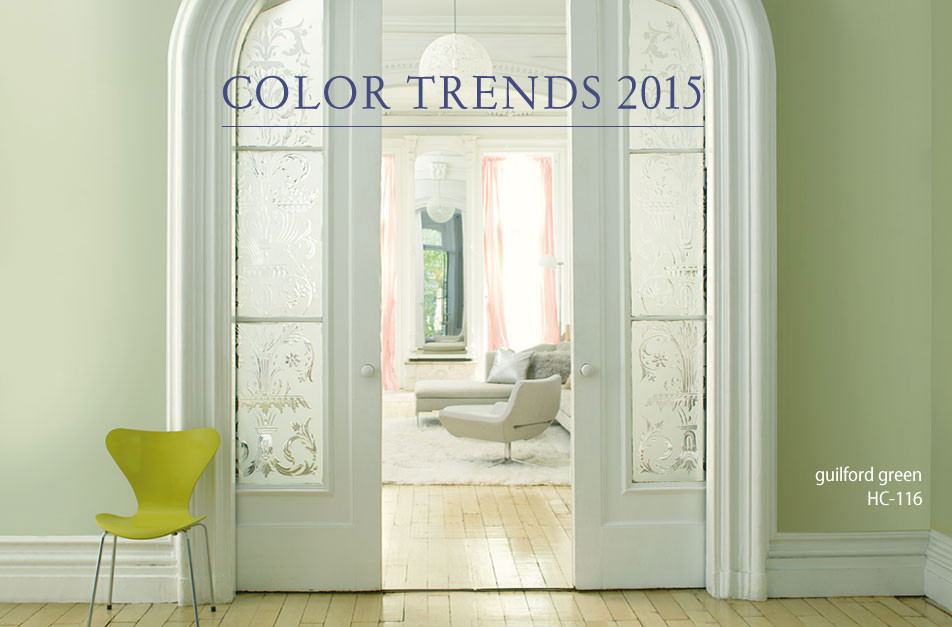 benjamin moore 2015 color of the year guilford green