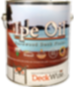 DeckWise Ipe Oil for decks and wood staining