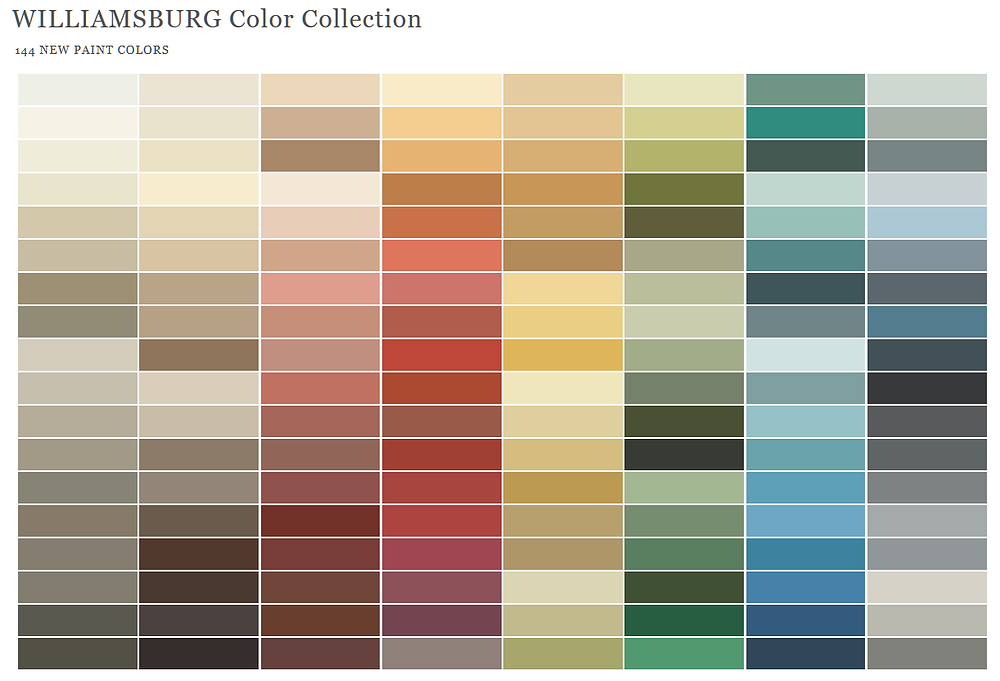 144 New Paint Colors Williamsburg Color Collection Benjamin Moore Paints
