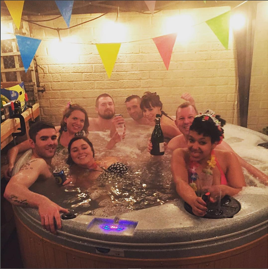 House party hot tub