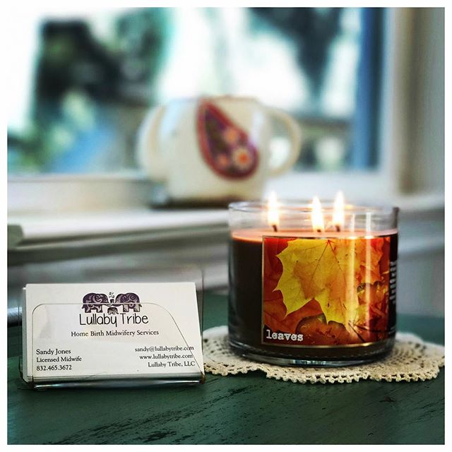 Goodbye September, hello October!  This morning I lit the first official fall candle of the season a