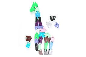 Puzzle incomplète girafe