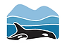 Georgia Strait Alliance logo - two orcas in front of blue mountains