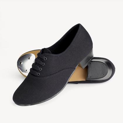 Black Canvas Tap Shoes - Boys