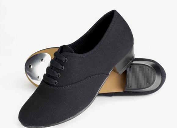 Boys Black Canvas Tap Shoes
