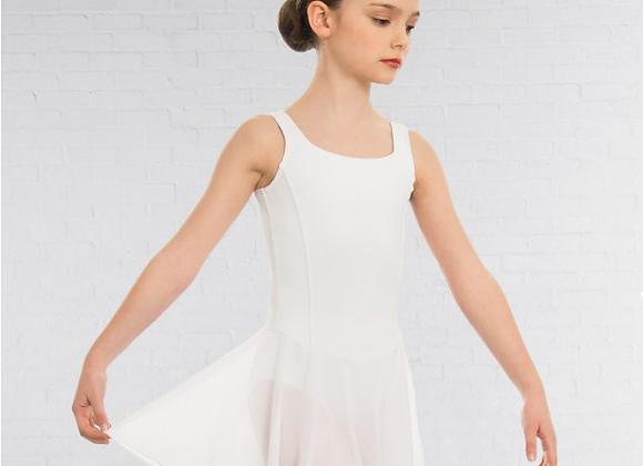 Girls White Foundation Dance Leotard