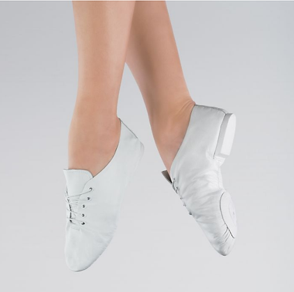 White Split Sole Jazz Shoes - Girls