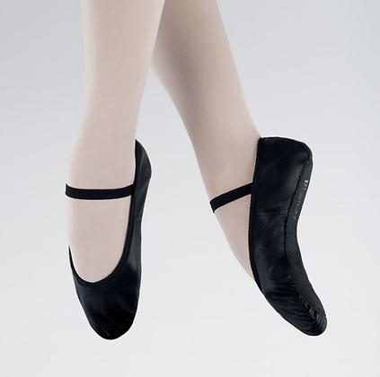 Black Leather Ballet Shoe - Boys