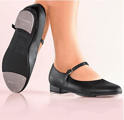 Black Buckle Tap Shoes - Girls