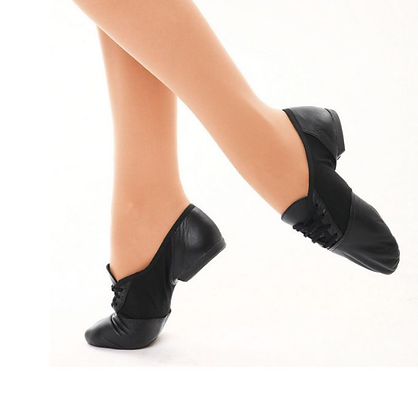 Black Split Sole Jazz Shoes - Unisex