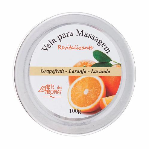 Vela Para Massagem Natural Revitalizante 100g - Arte dos Aromas