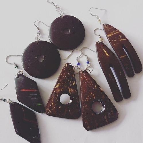 Handmade Coconut Shell Earrings
