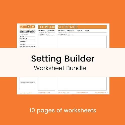 Setting Builder Worksheet Bundle