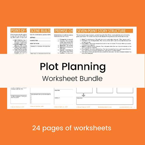 Plot Planning Worksheet Bundle