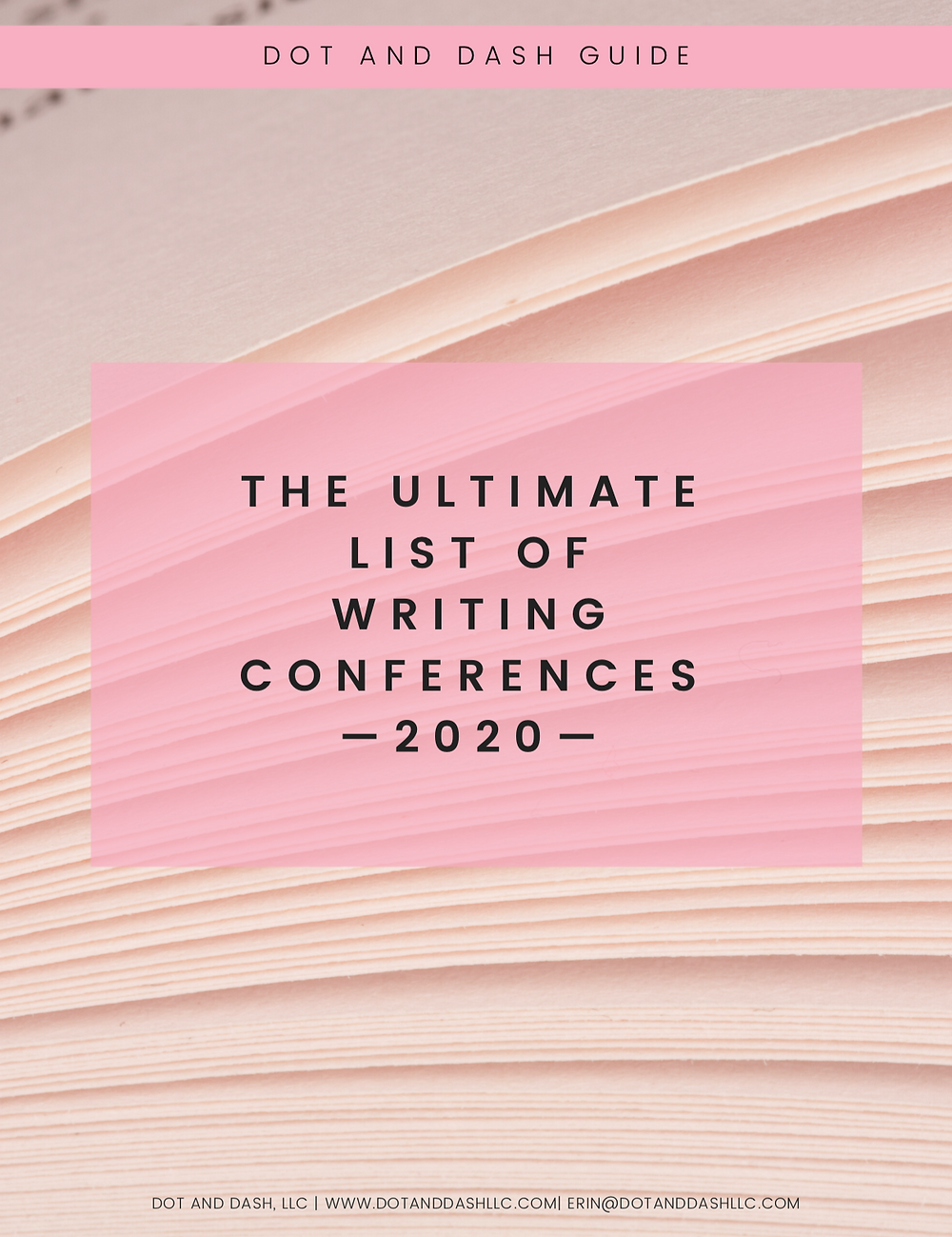 image of a cover that reads: The Ultimate List of Writing Conferences 2020