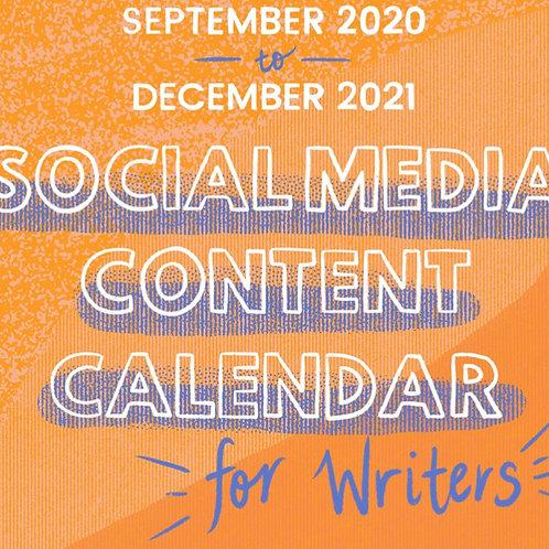 2020–21 Social Media Content Calendar for Writers