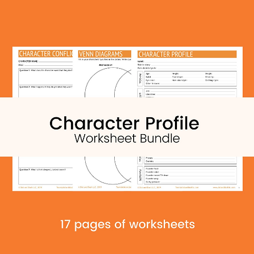 Character Profile Worksheet Bundle