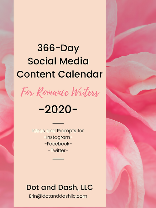SALE! Social Media Content Calendar for Romance Writers | 366 Days of Ideas