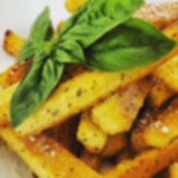 Walnut Pesto Polenta Fries!! Made with h