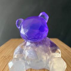 Purple Bear Gem Soap