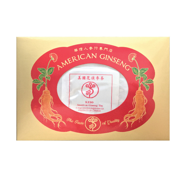 American Ginseng Tea box