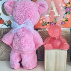Pink Baby Bear + Pink Towel Set