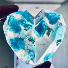 Blue Gem Heart Soap