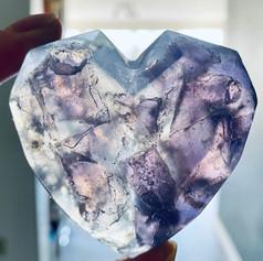 Lavender Gem Heart Soap