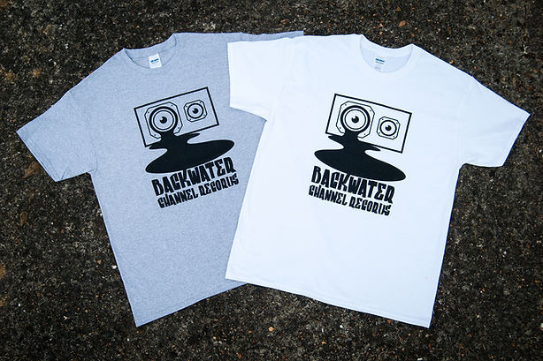 Backwater Channel Records t-Shirts avaiable now. Uk based independent record label for Essex and London