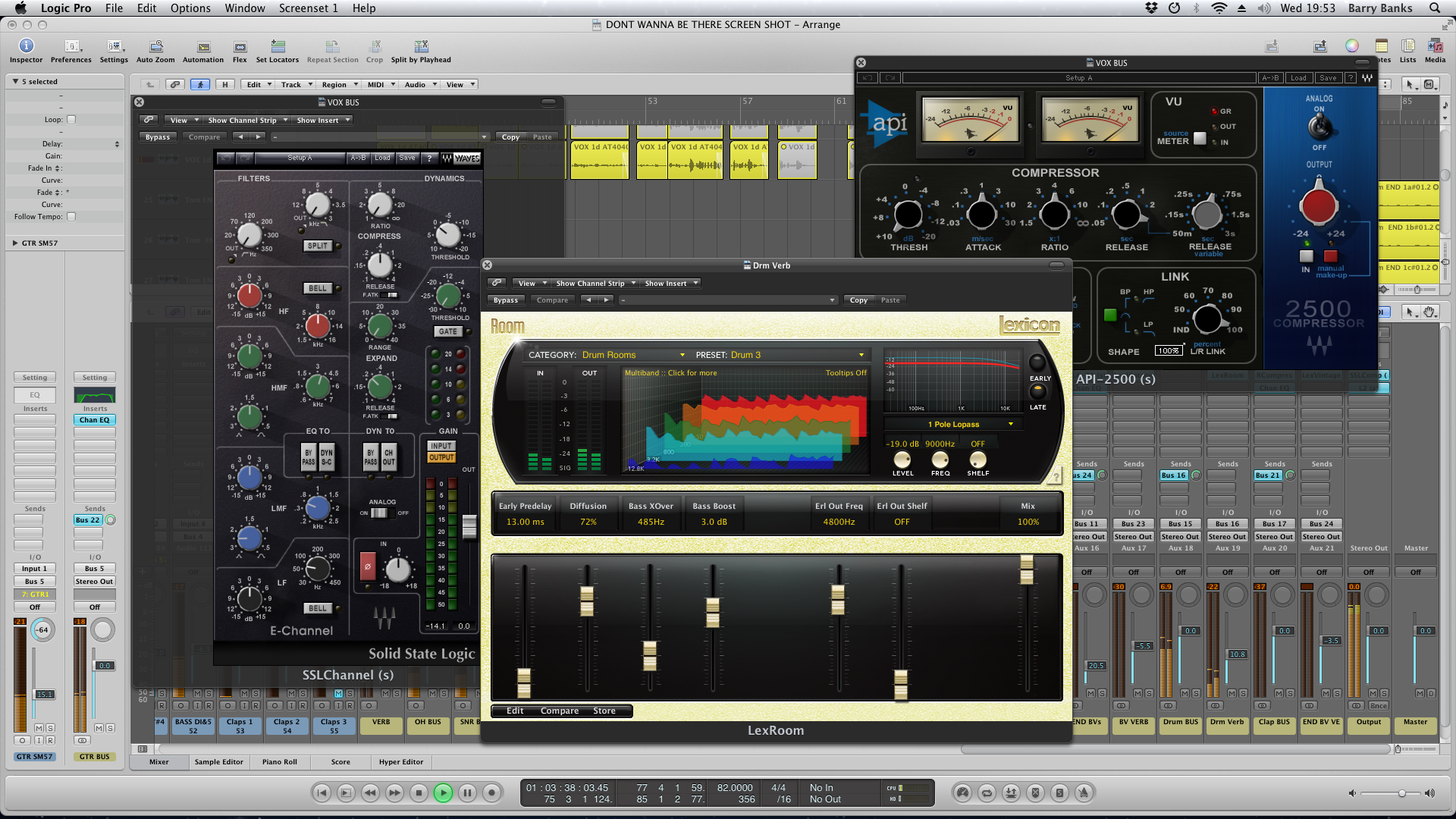 Logic Pro / Waves screen shot