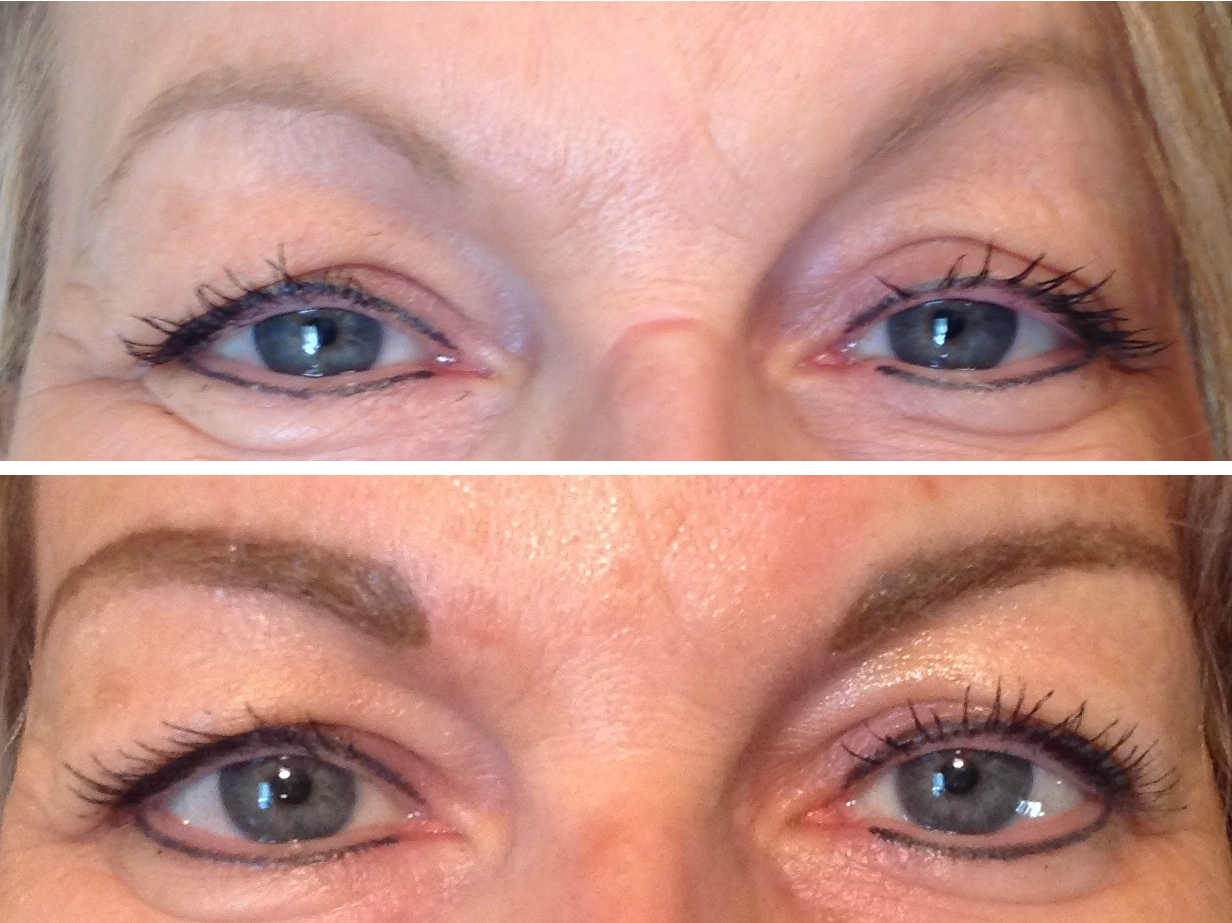 Maquillage permanent - Avant/après sourcils
