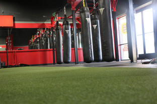 Heavy Bags & Astroturf For Training